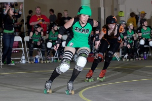 Absolutely Scabulous gets lead jammer over Rage City. ©2012 Masonite Burn Photography.